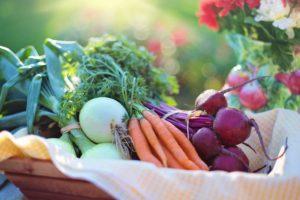 Basket of assorted vegetables