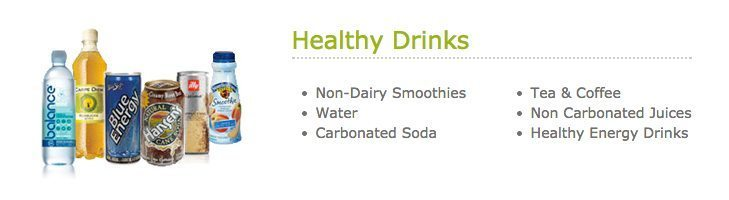 HealthyYOU Vending Drinks