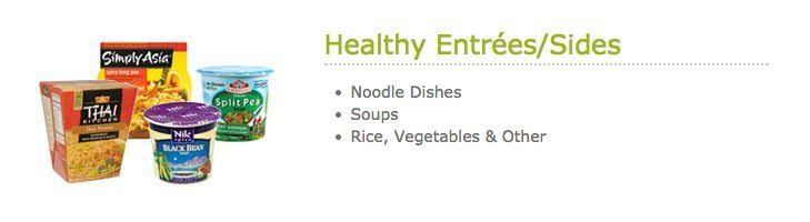 HealthyYOU Vending Entrees and Side Dishes